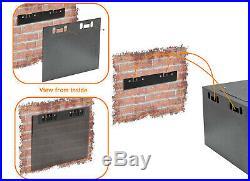 4U-High 18''-Deep 19''-Wide Wallmount Cabinet Enclosure Network Rack Locking
