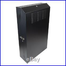 5U Vertical Enclosure Wall Mount Rack Low Profile Cabinet 36 Server Depth Black