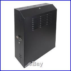 5U Vertical Wall Mount Rack Enclosure Cabinet Low Profile 20 Switch Depth Black