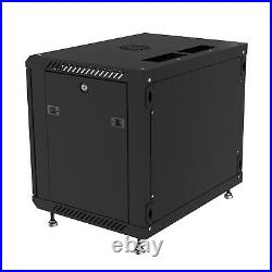 6U 18 Deep Wall Mount IT Network Server Rack Cabinet Enclosure FREE ACCESSORY