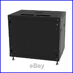 6U 24 Deep Wall Mount IT Network Server Rack Cabinet Enclosure Open Box