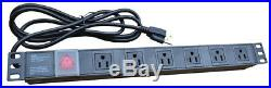 6U 24 Depth Wall Server Rack Cabinet Enclosure/Free Shipping and Accessories