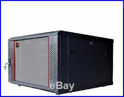 6U 24 depth Wall Mount Network IT Server Cabinet Rack HQ Lockable Enclosure