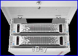 6U 35 Depth Wall Mount Server Cabinet Vertical Upload Rack Enclosure
