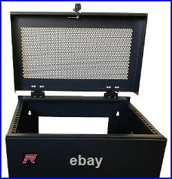 6U IT Rack 35'' Deep Enclosure Vertical Upload Cabinet Door Lock with Hardware