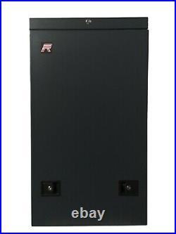 6U Vertical Upload Rack Enclosure 35 inch Deep Wall Mount Cabinet with Hardware