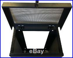 6U Vertical Wall Mount Rack Enclosure 35 Inch Depth Network Server Cabinet Black
