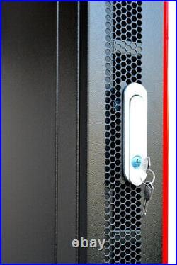 6U Wall Mount Network Data Server Cabinet Rack Lockable Enclosure