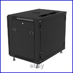 6U Wall Mount Network IT Server Cabinet Enclosure Rack Case Lockable It Cabinet