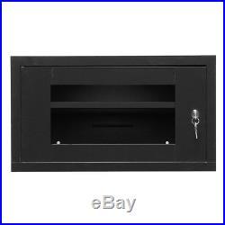 6U Wall Mount Network Server 16 Inch IT Cabinet Rack Enclosure Glass Door Lock