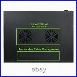 6U Wall Mount Network Server 19 Inch Cabinet Rack Enclosure Perforated Door Lock
