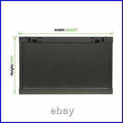 6U Wall Mount Network Server 19 Inch IT Cabinet Rack Enclosure Glass Door Lock