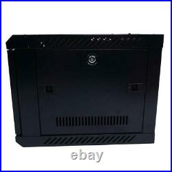 6U Wall Mount Network Server Data Cabinet Enclosure Rack Door Lock Cooling Fan H