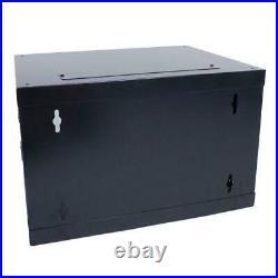 6U Wall Mount Network Server Data Cabinet Enclosure Rack Door Lock Cooling Fan P
