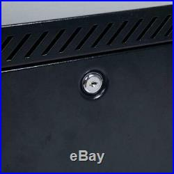 6U Wall Mount Network Server Data Cabinet Enclosure Rack Glass Door Lock black
