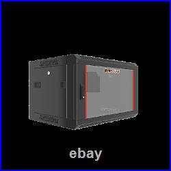 6U Wall Mount Server Rack Network Cabinet Locking Enclosure for Av Data Cabinet