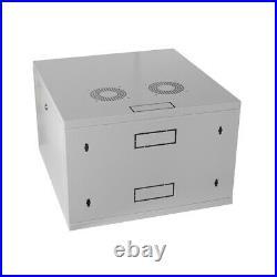 7U Wall Mount Network Server Data Cabinet Enclosure Rack Glass Door Lock