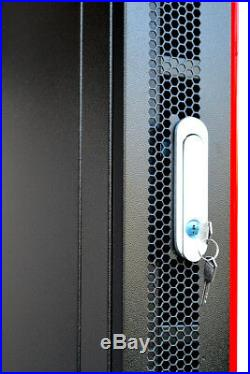 9U 18 Deep Server Rack Wall Mount Enclosure IT Data Network Server Cabinet