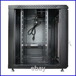 9U 24 Inch Deep Server Rack Cabinet Wall Mount Data Network Rack Enclosure