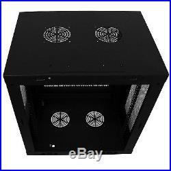 9U Non-Hinged Wall Mount Network Server Data Cabinet Rack Enclosure Door&Black