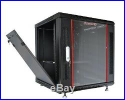 9U Rack 18 Inch Deep Server Cabinet Wall Mount Data Network Enclosure