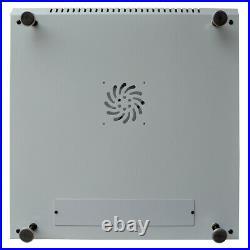 9U Rack Cabinet 24 Inch Depth Server Enclosure Light Grey Rack & Accessories