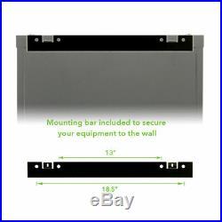 9U Wall Mount 19 Server 600mm Cabinet Rack Enclosure Glass Door Lock With Shelves