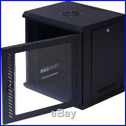 9U Wall Mount IT Network Server Data Cabinet Enclosure Rack Glass Door Locking
