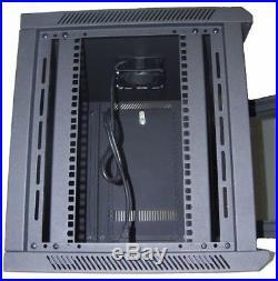 9U Wall Mount IT Server Network Cabinet Rack Enclosure Glass Door Lock 24 Deep