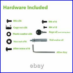 9U Wall Mount Network Server 19 Inch IT Cabinet Rack Enclosure Glass Door Lock