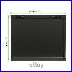 9U Wall Mount Network Server 600mm Depth Cabinet Rack Enclosure Glass Door Lock