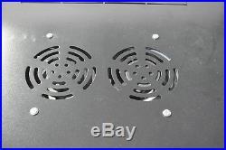 9U Wall Mount Network Server Data Cabinet Enclosure Rack Net Door Lock with Fan
