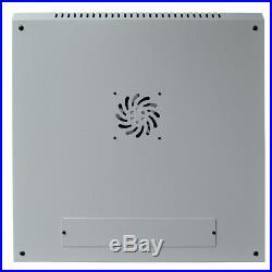 9U Wall Mount Network Server Data Cabinet Rack Enclosure Light Gray with Bonus