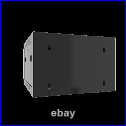 9U Wall Mount Server Cabinet Locking Networking Enclosure Data Rack Glass Door