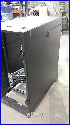 APC 19 rack mount 24RU rolling server cabinet NetShelter SX Enclosure 24U