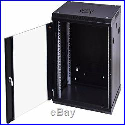 Colibrox 18u Wallmount data cabinet enclosure 19 inch server network rack lock