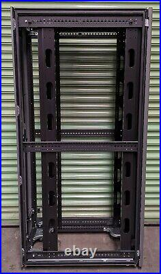Compaq HP 10642 42U Server Rack Cabinet Enclosure With Front & Back Doors