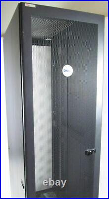 Dell 4210 42u Server Rack Enclosure/Cabinet with Front and Rear Doors, Sides