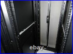 Dell APC AR3100X717 SX 42U Rolling Server Rack Cabinet Enclosure