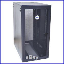 Dell PS38S 24U 19 Server Rack Cabinet Enclosure 24W x 40D x 47H No Keys