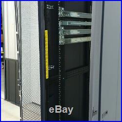 Dell Powered 4210 Series 42u Black Server Cabinet Rack Enclosure Us-0r3066 #1
