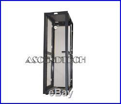 Dell Poweredge 4210 Series 42u Black Server Cabinet Rack Enclosure Gj575 0gj575