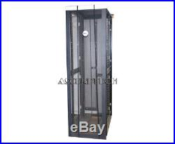 Dell Poweredge 4210 Series 42u Black Server Cabinet Rack Enclosure T3207 Ps38s