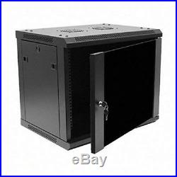 Deluxe IT Wallmount Cabinet Enclosure 19 Server Network Rack With Locking Door