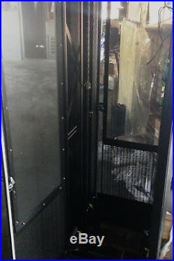 EATON B-Line 42U Network Server Rack Cabinet Enclosure 84 x 29 x 30 4 fans
