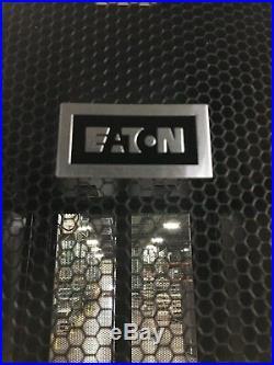Eaton 42U Server Floor Rack Enclosure Cabinet with Mesh Doors & Solid Sides