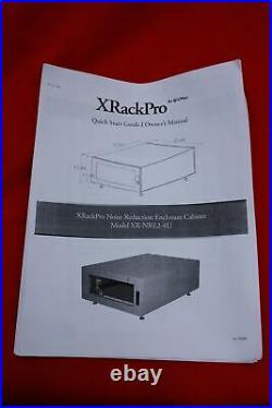 GizMac Xrackpro Rackmount Noise Reduction Enclosure Rack Cabinet. 19 Wide, 4U