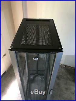 HP 10642 245169-001 42U 19 Server Rack Enclosure Cabinet with Doors & Wheels #4