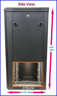 KENUCO 18U Wall Mount Rack Server Cabinet Data Network Enclosure 19-Inch Server