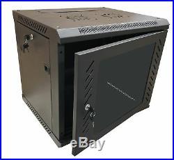 KENUCO 9U Wall Mount Rack Server Cabinet Data Network Enclosure 19-Inch Server